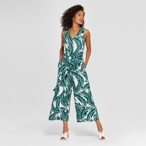 Who What Wear palm print jumpsuit plus size XXL